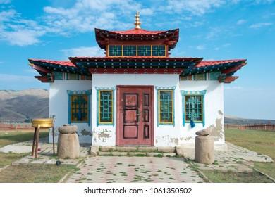 KHARKORIN, MONGOLIA - Jun 29 2017: Lubang Gyalpo Temple in Kharkhorin (Karakorum), Mongolia. Karakorum was the capital of the Mongol Empire between 1235 and 1260.