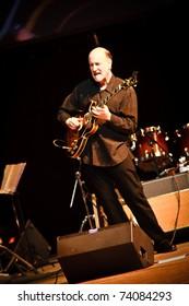 KHARKOV, UKRAINE - APRIL 15: John Scofield Quartet play on scene on April 15, 2010 in ZaJazz Festival, Kharkov, Ukraine.