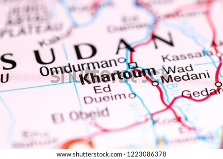Khartoum Africa On Map Stock Photo Edit Now 1223086378 Shutterstock