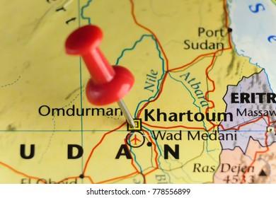 Khartoum capital of Sudan. Copy space available.