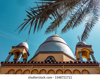 Khartoum, Sudan, February 5. 2019: House of the Caliph, mausoleum in the centre of the capital, built of clay, in memory of Abdallahi ibn Muhammad