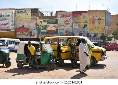 Khartoum, Sudan - November, 18, 2017: street life in the city