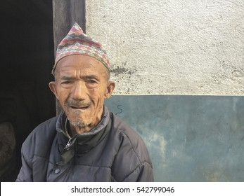 Khatmandu, Nepal-Dec 15, 2016:Unidentified local people in Bhaktapur, Place of devotees. Also known as Bhadgaon or Khwopa, it is an ancient Newar city in the east corner of the Kathmandu Valley, Nepal