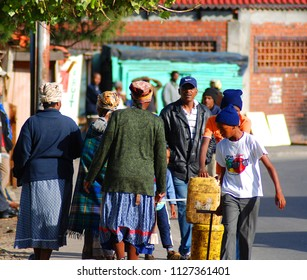KHAYELITSHA, CAPE TOWN SOUTH AFRICA MAY 22 2007: Xhosa people living in Khayelitsha township in Western Cape reputed to be the largest and fastest growing in SA.