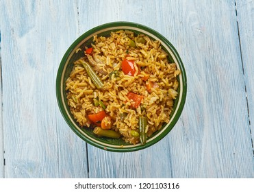 Kheema Pulao - Rice cooked with mutton mince.