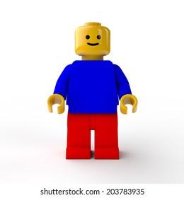 Kherson, Ukraine - Jul 7 2014: LEGO Mini Characters Lego