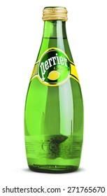KHERSON, UKRAINE - NOVEMBER 05, 2014: Perrier, isolated, cold.