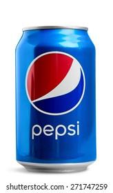 KHERSON, UKRAINE - NOVEMBER 11, 2014: Pepsi, soft, drink.