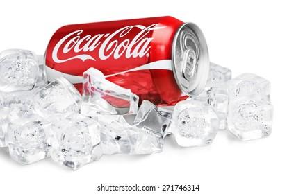 KHERSON, UKRAINE - NOVEMBER 12, 2014: Cola, coca, wet.