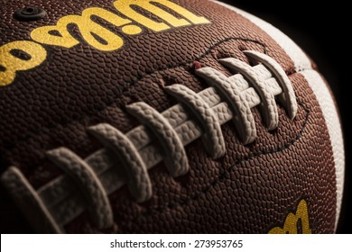 KHERSON, UKRAINE - NOVEMBER 24, 2014: Superbowl, ball, macro.