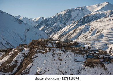 Khinalig is an ancient Caucasian village going back to the Caucasian Albanian period. It is located high up in the mountains of Quba region, Azerbaijan