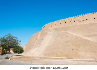 Khiva, Uzbekistan - Sep 04 2018: Ancient city of Itchan Kala in Khiva, Uzbekistan. Itchan Kala is Unesco World Heritage Site.