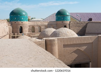 Khiva, Uzbekistan - Sep 04 2018: City wall of Ancient city of Itchan Kala in Khiva, Uzbekistan. Itchan Kala is Unesco World Heritage Site.