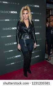 Khloe Kardashian attends Fashion Nova X Cardi B Launch Event, at BOULEVARD 3, Los Angeles, California on November 14th, 2018