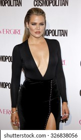 Khloe Kardashian at the Cosmopolitan's 50th Birthday Celebration held at the Ysabel in West Hollywood, USA on October 12, 2015.