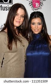Khloe Kardashian and Kimberly Kardashian at the Anna Nicole Smith Tribute Event. HERE Lounge, West Hollywood, CA. 04-24-07