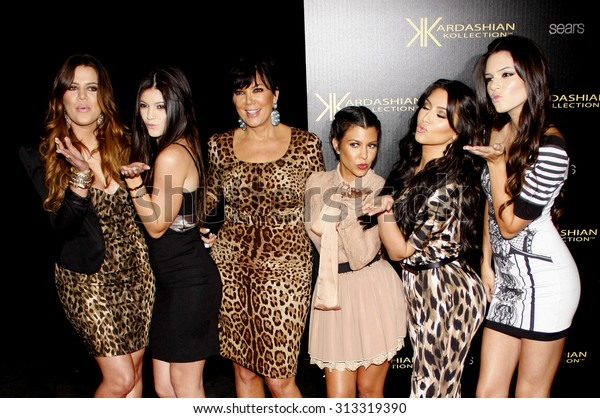 Khloe Kardashian, Kylie Jenner, Kris Jenner, Kourtney Kardashian, Kim Kardashian and Kendall Jenner at the Kardashian Kollection Launch Party held at the Colony in Hollywood, USA on August 17, 2011.