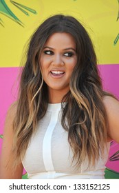 Khloe Kardashian Odom at Nickelodeon's 26th Annual Kids' Choice Awards at the Galen Centre, Los Angeles. March 23, 2013  Los Angeles, CA Picture: Paul Smith