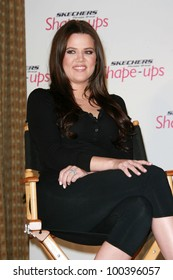 Khloe Kardashian at a press conference to announce a Global Partnership With Kim Kardashian And Kris Jenner, Beverly Wilshire, Beverly Hills, CA. 11-22-10