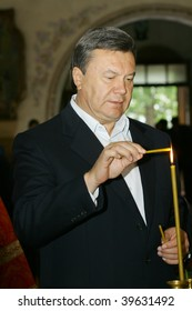 KHMELNITSKY – SEPTEMBER 13: Ukrainian presidential candidate Viktor Yanukovich during his speech visit during the pre-election tour on September, 13 2009 in Khmelnitsky, Ukraine.