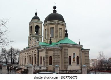 Khmelnytsky, Ukraine - December 16, 2011: Orthodox Cathedral of the Intercession of the Theotokos in Khmelnytsky.
