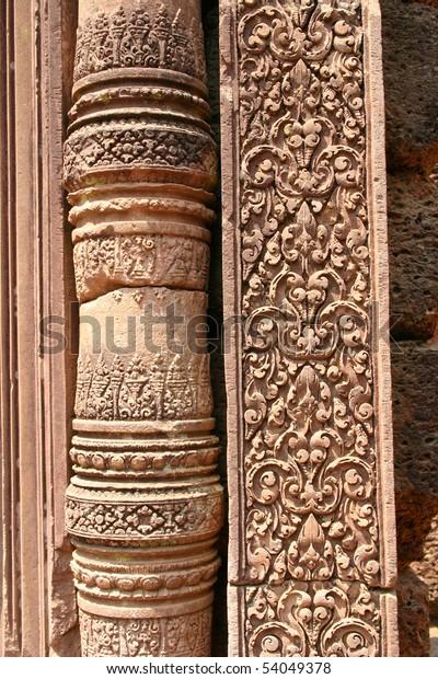 Khmer design from Banteai Srei