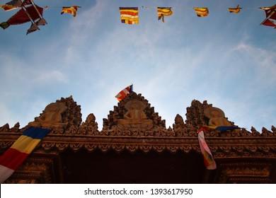 Khmer New Year celebration at Wat Khmer Munireangsey in Can tho, Vietnam