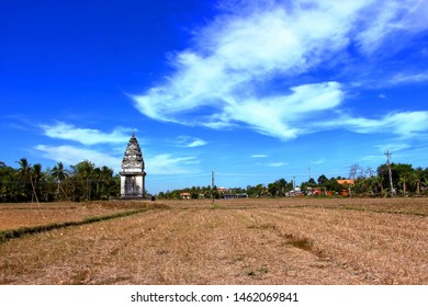 Khmer temple in the middle of the field