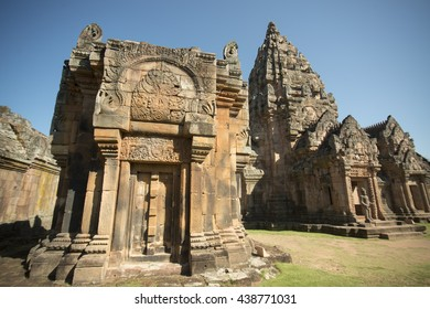 the Khmer Temple Ruins of the Prasat Phanom Rung south of the city of Buri Ram in Isan in Thailand.