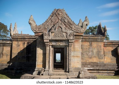 the Khmer Temples of Prsat Preah Vihear north of the town Sra Em in the province of Preah Vihear in Northwest Cambodia.  Cambodia, Sra Em, November, 2017,