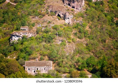 Khndzoresk cave settlement (13th-century, used to be inhabited till the 1950s), Syunik region, Armenia