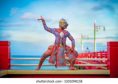 Khon is art culture Thailand