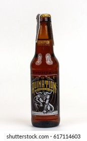 KHON KAEN - THAILAND - April 8, 2017:  illustrative editorial Stone Pale Ale. From the Stone Brewing Company, in Escondido, the largest brewery in Southern California.