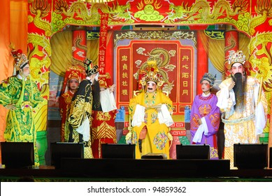 KHONKAEN, THAILAND - NOVEMBER 3: The Chinese Opera performs at the Njew center Theatre on November 3, 2011, in Khonkaen, Thailand.