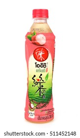 KHONKAEN - THAILAND - NOVEMBER 7, 2016: Preview clear bottle Oishi, drink tea is popular in Asian production by Oishi Group PLC. Released by Sermsuk PLC. In THAILAND.