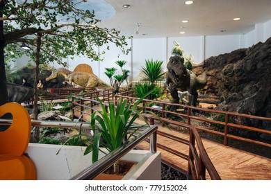Khonkaen, THAILAND - OCT 29 : Phuwiang Dinosaur Museum is Dinosaur School on OCT 29, 2017 in Khonkaen,Thailand