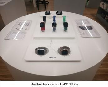 KHONKAEN, THAILAND - OCTOBER 15,2019: Studio7 shop in Central Plaza KhonKaen sales Macbook, iPhone, iMac, iPadpro, speakerphone for Apple products It is a premium reseller of Apple Inc in Thailand.