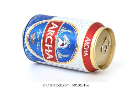 KHONKAEN - THAILAND - October 20, 2016: Archa Beer. Produced by to Beer Thip Brewery (1991) Co., Ltd. subsidiary of Thai Beverage (Thailand) Co., Ltd.