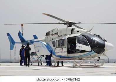 Khonkean province, Thailand- April,2016 : emergency aeromedical evacuation training