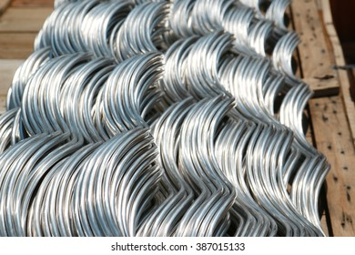 KHON-KHAN-THAILAND-APRIL 24 : Steel Hardware for fitting electrical cable with steel tower at work-site on April 24, 2015 Khon-Khan Province, Thailand.
