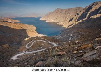 Khor Najd - most iconic place in Musandam peninsula, Oman, Arabia