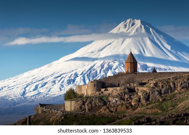 Khor Virab monastery with Mount Ararat in the background