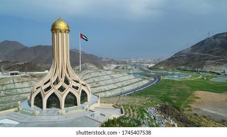 khorfakkan flag At the top of Khorfakkan