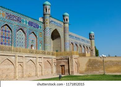 The Khudayar Khan Palace is the most popular landmarks of Fergana Valley. Kokand, Uzbekistan.