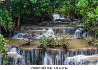 Khuean Srinagarindra National Park. Maekhamin the water fall in the jangle.