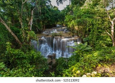 Khuean Srinagarindra National Park. Maekhamin the water fall in the jungle.