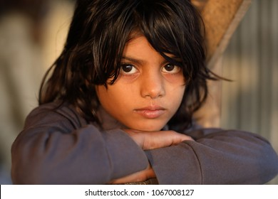 KHULNA - BANGLADESH - DECEMBER 10, 2016: Unidentified street kid on December 10, 2016 in Khulna, Bangladesh