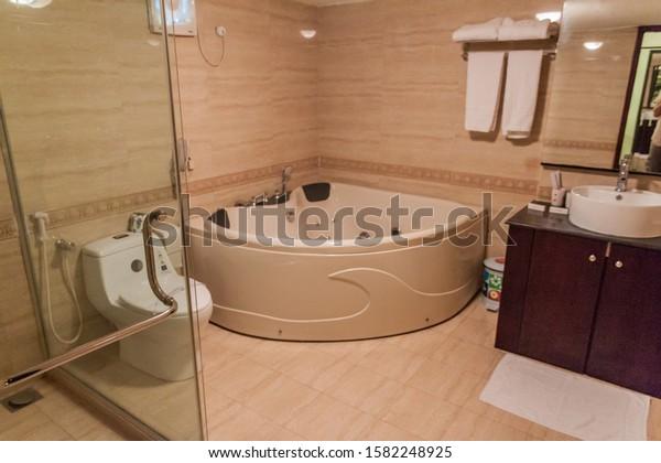 Khulna Bangladesh November 12 2016 Bathroom Interiors Stock Image 1582248925