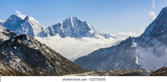 Khumbu glacier, view from Kala Patthar - Everest region, Nepal, Himalayas