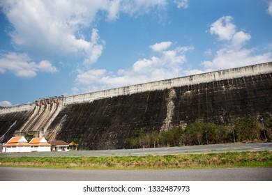 Khun Dan Prakan Chon Dam was formerly named Khlong Tha Dan reservoir at Ban Tha-Dan in Hin Tang subdistrict, Muang district in Nakhon Nayok, Thailand (Text thai language mean Khun Dan Prakan Chon Dam)